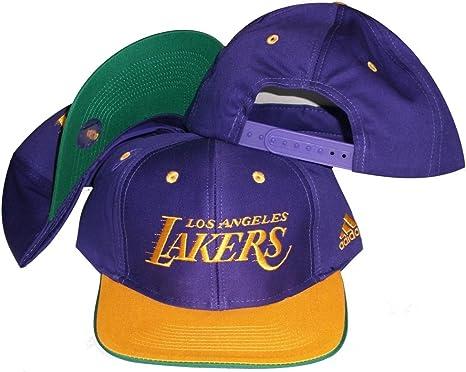 Amazon Com Los Angeles Lakers Script Purple Gold Plastic Snapback Adjustable Plastic Snap Back Hat Cap Sports Fan Baseball Caps Clothing
