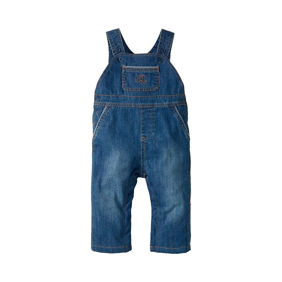 Bornino Jeans-Latzhose/Basics Baby Bekleidung/Hose / Eingrifftaschen / 100% Baumwolle/Denim