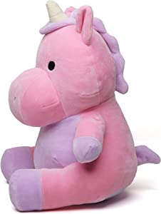 Avocatt Pink Unicorn Plush Toy - 10 Inches Plushie Stuffed Animal - Hug and Cuddle with Squishy Soft Fabric and Stuffing - Cute Unicorn Gift for Boys and Girls