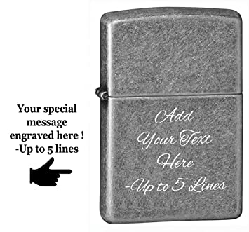 Amazoncom Zippo Personalized Chrome Windproof Lighter Custom