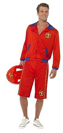 48c5c11526 Amazon.com: Baywatch Beach Movie Lifeguard Costume Sexy Mens Red ...