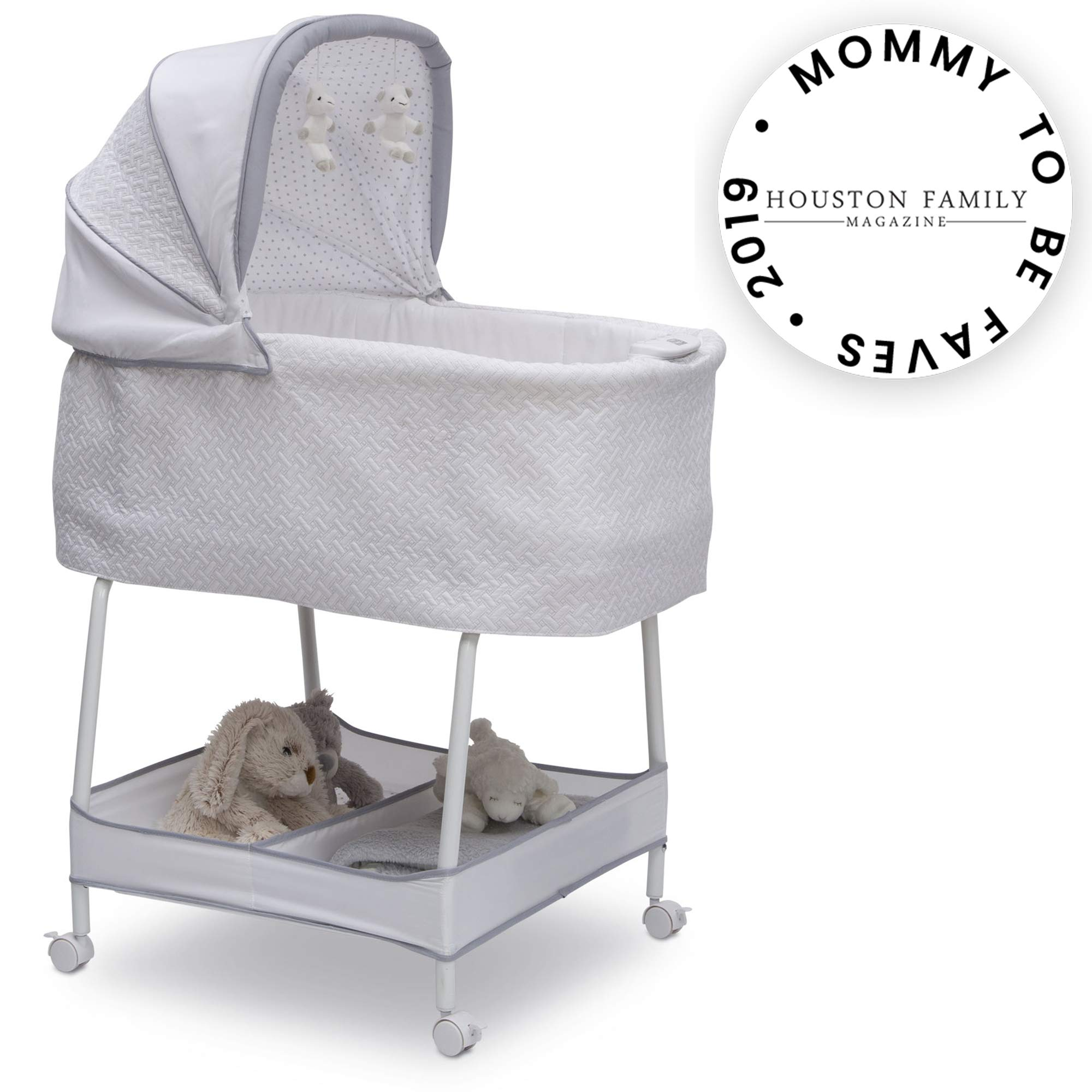 Simmons Kids Silent Auto Gliding Elite Bassinet, Basketweave by Simmons Kids