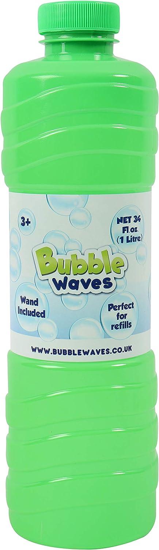 Laeto Toys & Games Botella Gigante de 1 litro de solución de Burbujas, líquido con Varita de Gran diversión con niños, Ideal para máquina de Burbujas, soplador de Pistola o Grande