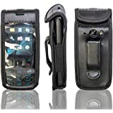 caseroxx Leather-Case with belt clip for Nokia 6303 und 6303i made of real leather with belt-clip in black