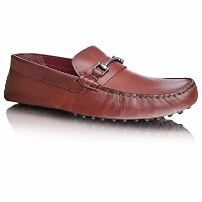 fbbe74a25c2e1 Mens New Casual Leather Loafer Flats Slip On Driving Moccasins Boat Shoes  (UK 5,