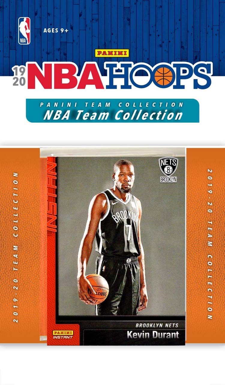 Chris Levert and Kevin Durant Plus Brooklyn Nets 2019 2020 Hoops Basketball Factory Sealed 12 Card Team Set with Kyrie Irving