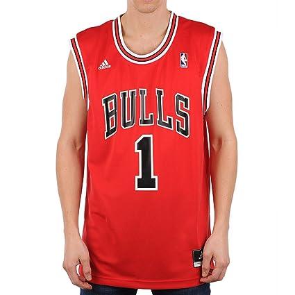 e35f6fc92287d Camisa Regata Adidas Nba Chigaco Bulls Nº1 Rose  Amazon.com.br ...
