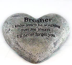 Party Explosions Heart Shaped Memorial Stone Indoor Decor for Brother