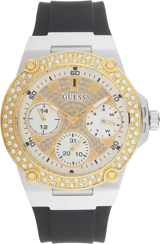 Reloj Guess Montre W1291L1 para Mujer, Color Negro, Plateado y Dorado, Caja 39 mm