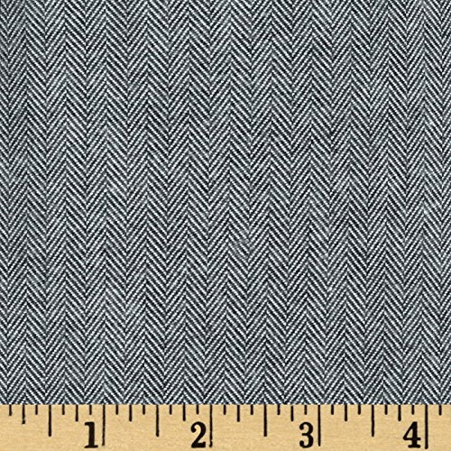 Herringbone Flannel Shirt - Kaufman Shetland Flannel Herringbone Grey Fabric By The Yard