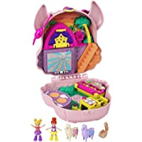 Polly Pocket Llama Music Party Compact with Stage, Spinning Dance Floor, Food Stalls and Table, Picnic Basket, Micro…
