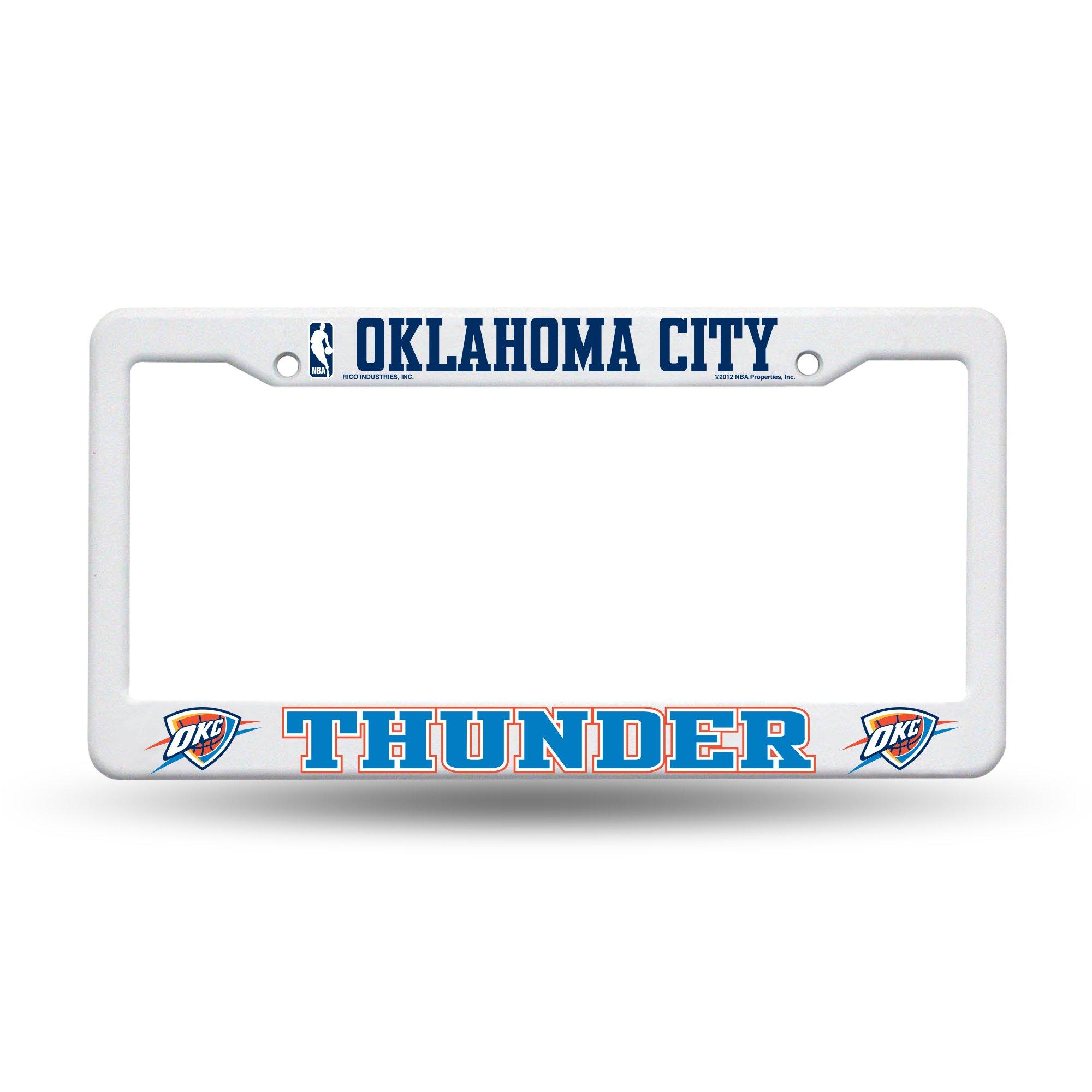 NBA Oklahoma City Thunder Plastic License Plate Frame - White