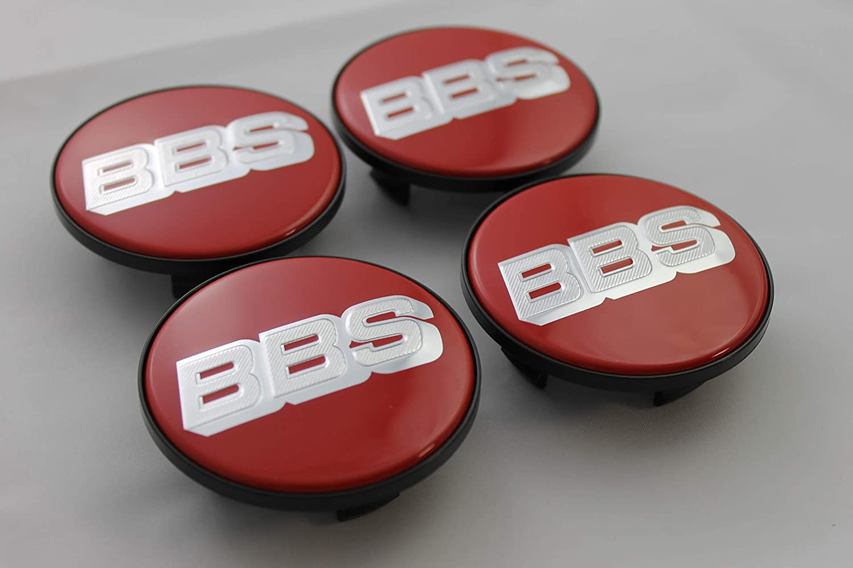 BBS Original Emblem Nabendeckel Rot Silber Nabenkappe Felgendeckel 64,5mm 4K