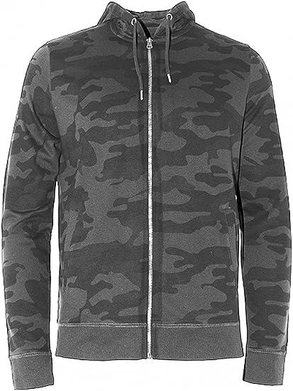 Mens Brave Soul /'Bernard/' Full Zip Camo Hoodie//Hooded Sweatshirt Casual Hoody