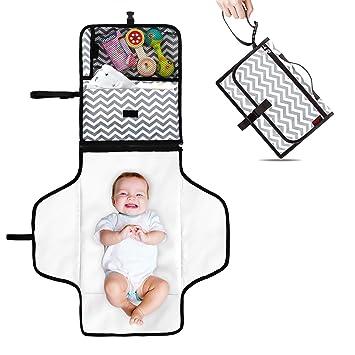 Amazon.com: Yashine - Cambiador portátil para bebé con cojín ...