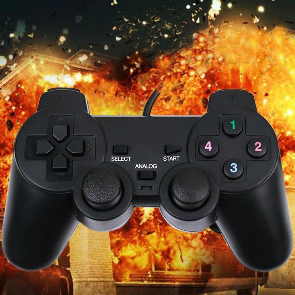 Gamecontroller Laptop aus USB-Schockkunststoffmaterial f/ür PC WinXP RENZE Computer Gaming Controller Win8 Win10 Win7 schwarz