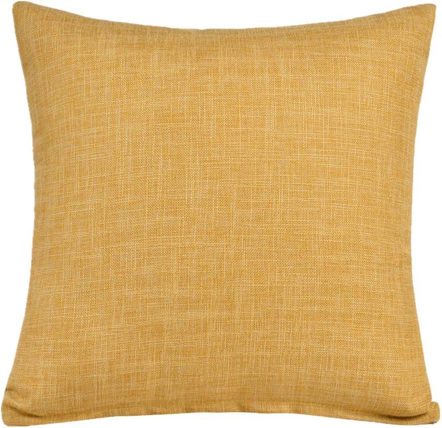 M/&F 40,6/cm carr/é Solide Couleur Coton Lin d/écoratif Taie doreiller Housse de Coussin pour canap/é Taie doreiller