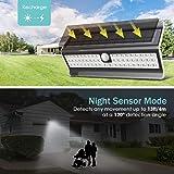 EZBASICS Solar Lights Outdoor, Solar Motion Sensor
