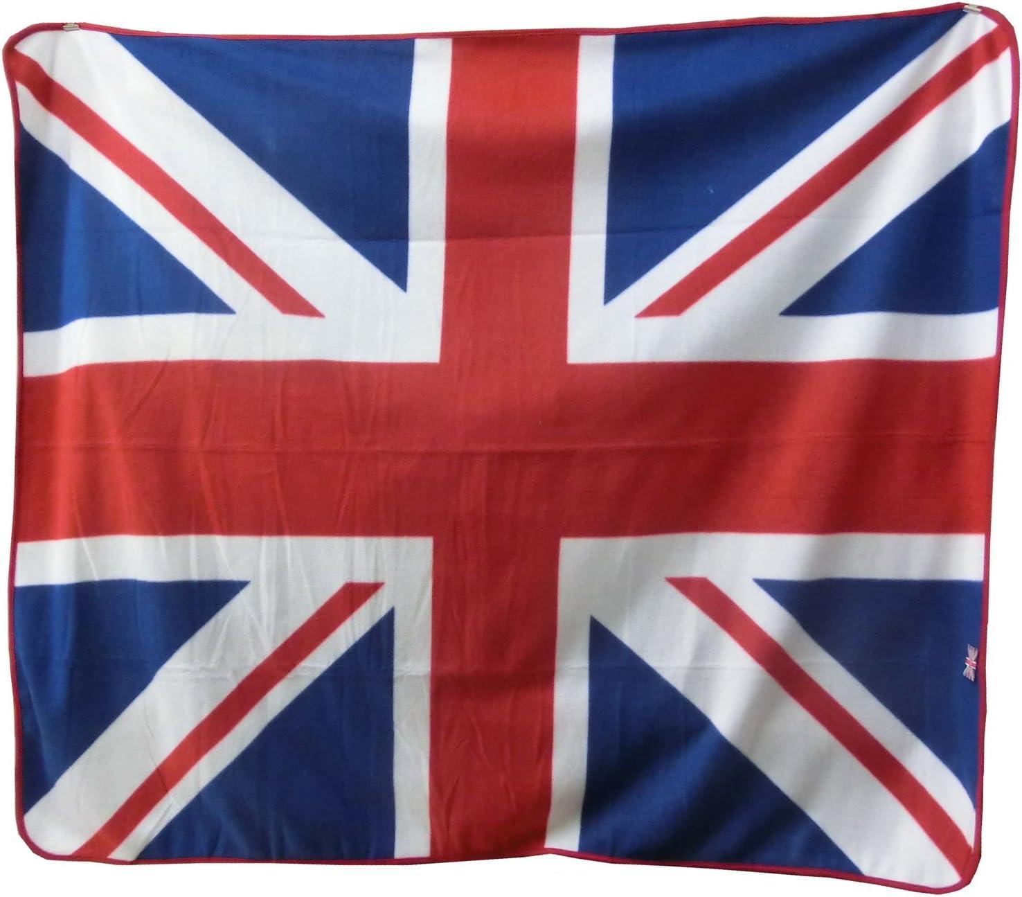 Manta de Viaje de Forro Polar, diseño de la Bandera de Reino Unido: Amazon.es: Equipaje