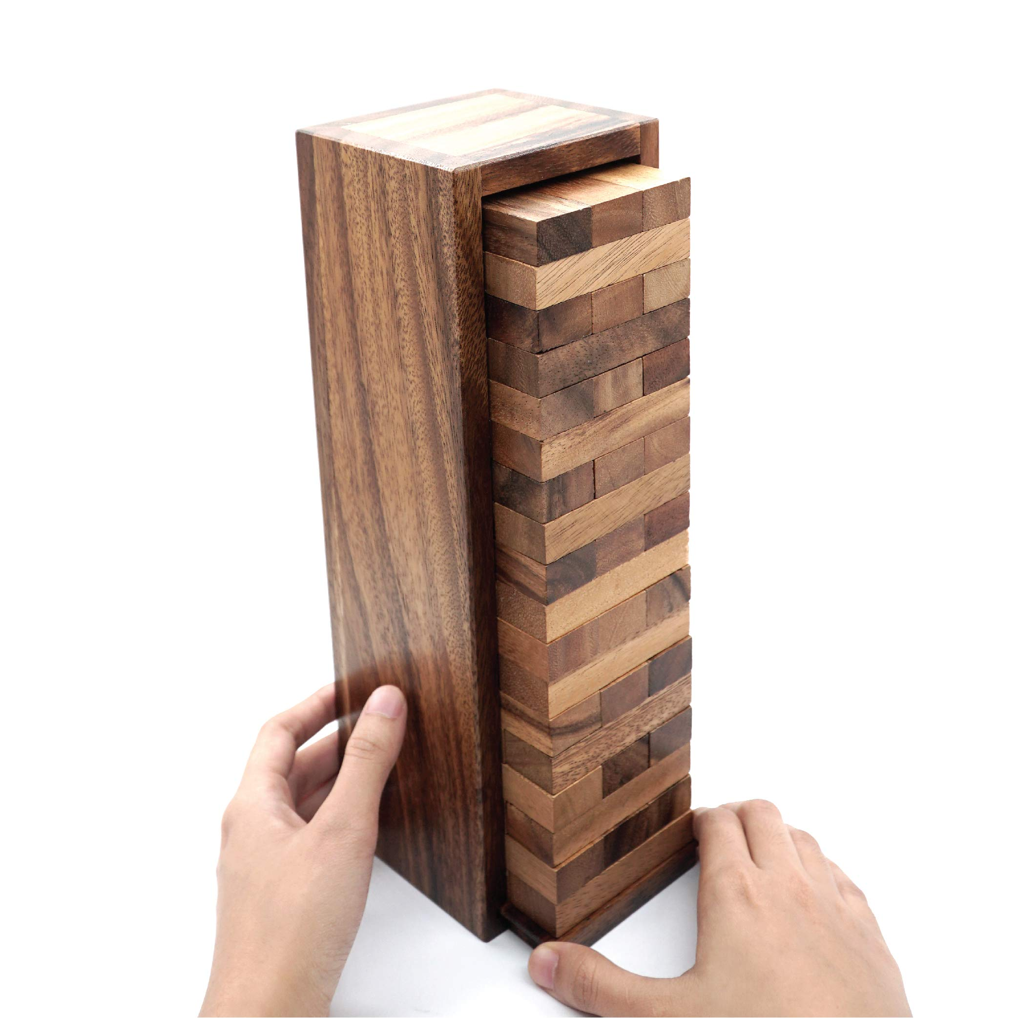 Board Games for Families and Kids with a Stacking Block Games of Tumbling Tower Game Classic Wood that Will Challenges Your Skills in Adult Kids and Family to Get Fun Day and Night by BSIRI