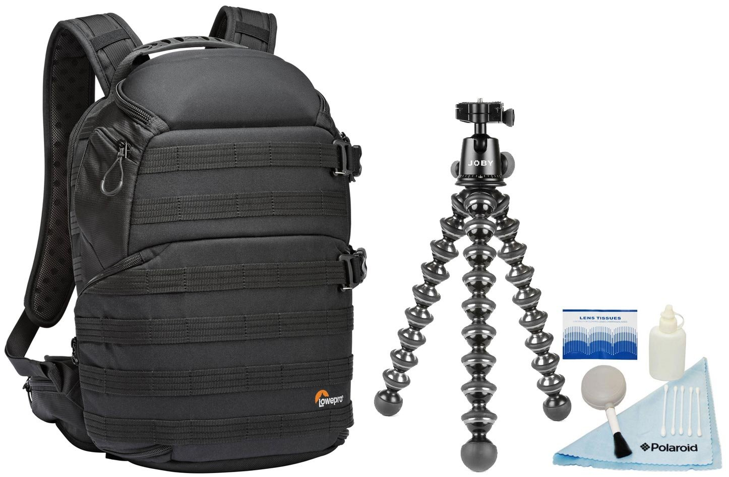 Lowepro ProTactic 350 AW Photo / Up to 13'' Laptop / Tablet / iPad Quick-Access Camera Backpack w/ Joby GorillaPod Focus Flexible Tripod with Ballhead Kit