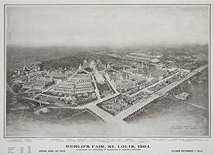 St Louis World's Fair USA c. 1904, Vintage Advertisement (12x18 Art Print, Travel Poster Wall Decor)