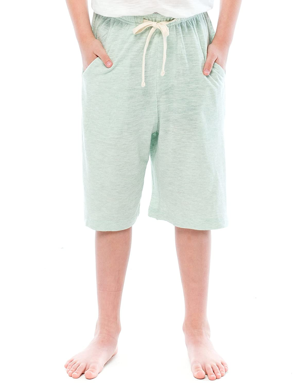 TINFL Boys Various Textile Material Solid Casual Lounge Sleep Pajama Shorts TINFL-BKSP