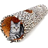 """PAWZ Road Cat Toys Collapsible Tunnel Dog Tube for Fat Cat,Rabbits,Dogs Length 51"""" Diameter 12"""""""