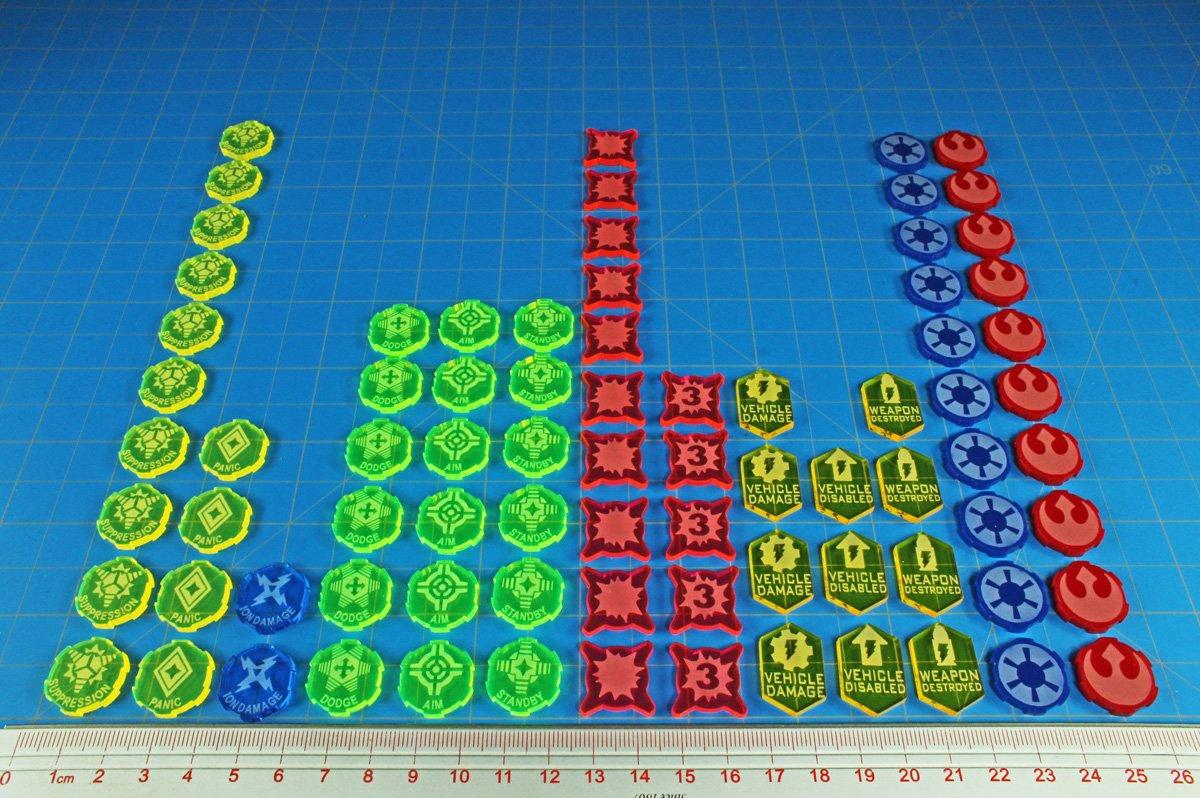 Game Upgrade Token Collection LITKO Game Accessories 80 SW: Legion
