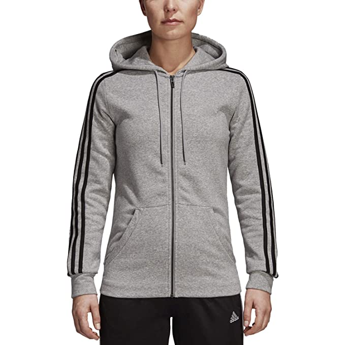 adidas Women s Essentials algodón Forro Polar 3S Full-Zip ...