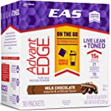 EAS AdvantEDGE Protein Powder Packets, Milk Chocolate, 60 Count