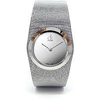 Calvin Klein Womens Quartz Watch, Analog Display and Stainless Steel Strap