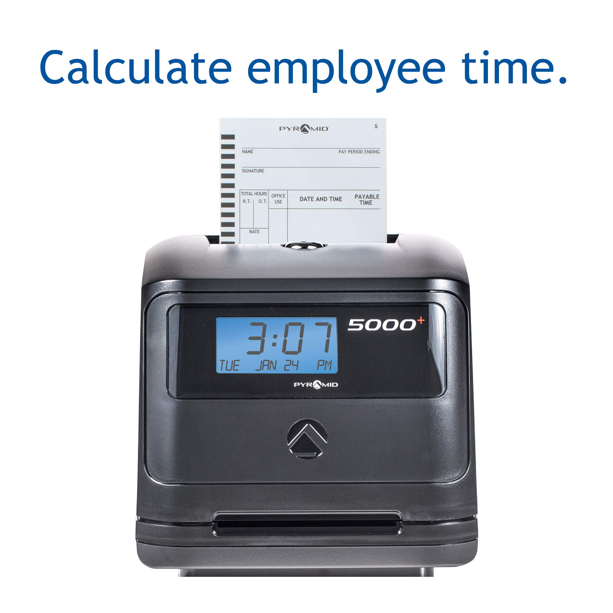 Pyramid 5000 Auto Totaling Time Clock, 100 Employees - Made in USA by Pyramid Time Systems (Image #2)