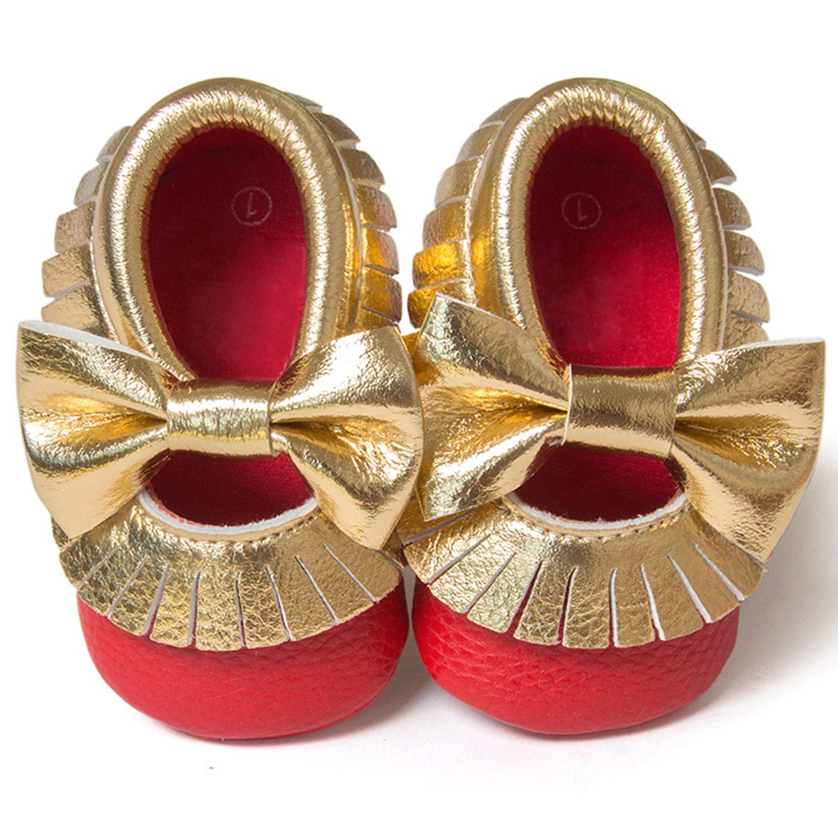 BENHERO Infant Baby Girls Slippers Shoes Soft Sole PU Leather Moccasinss Toddler First Walker Crib Dress Shoes