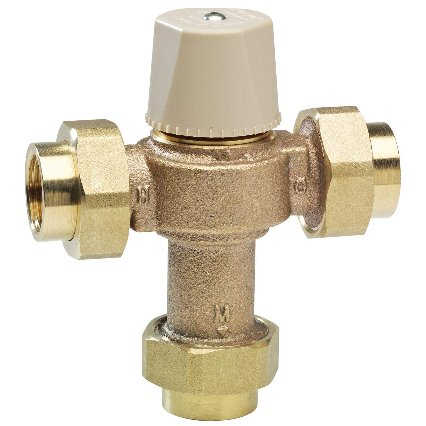.5 to 12 GPM Watts LF-MMV-M1-UT 1 Thermostatic Mixing Valve with FPT Union Connections 80 Degree to 120 Degree Adjustable