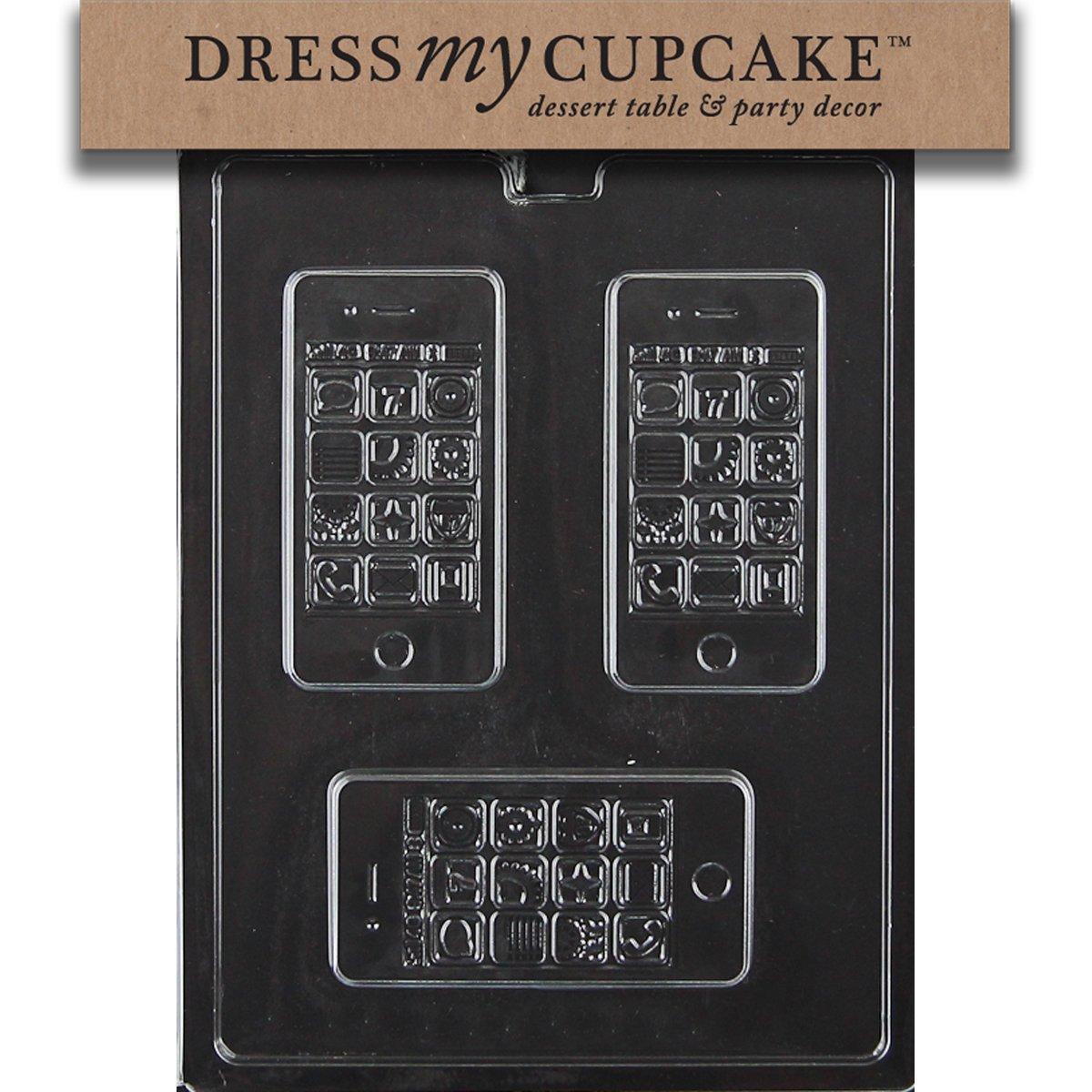 Amazon.com: Dress My Cupcake Chocolate Candy Mold, Apple iPhone ...