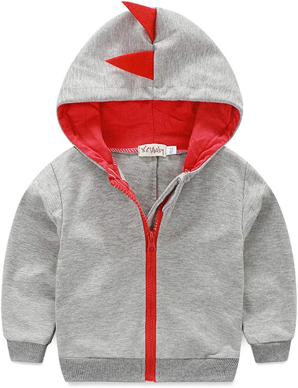 ZOEREA Boy Girls Unisex Babys Fashion Hooded Jacket Kids Toggle Wool Coat with Velvet