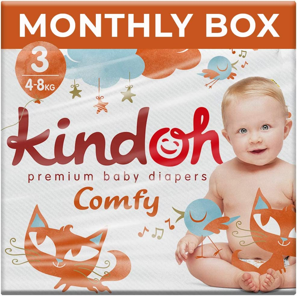 138 Unidades Caja mensual Kindoh Pa/ñales Comfy Midi Talla 3