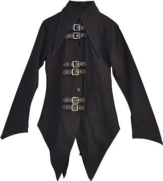 El celibato 44008205.008M Mujeres gótica de Steampunk camisa de manga larga o blusa con tapeta, amplio M delgado negro: Amazon.es: Juguetes y juegos