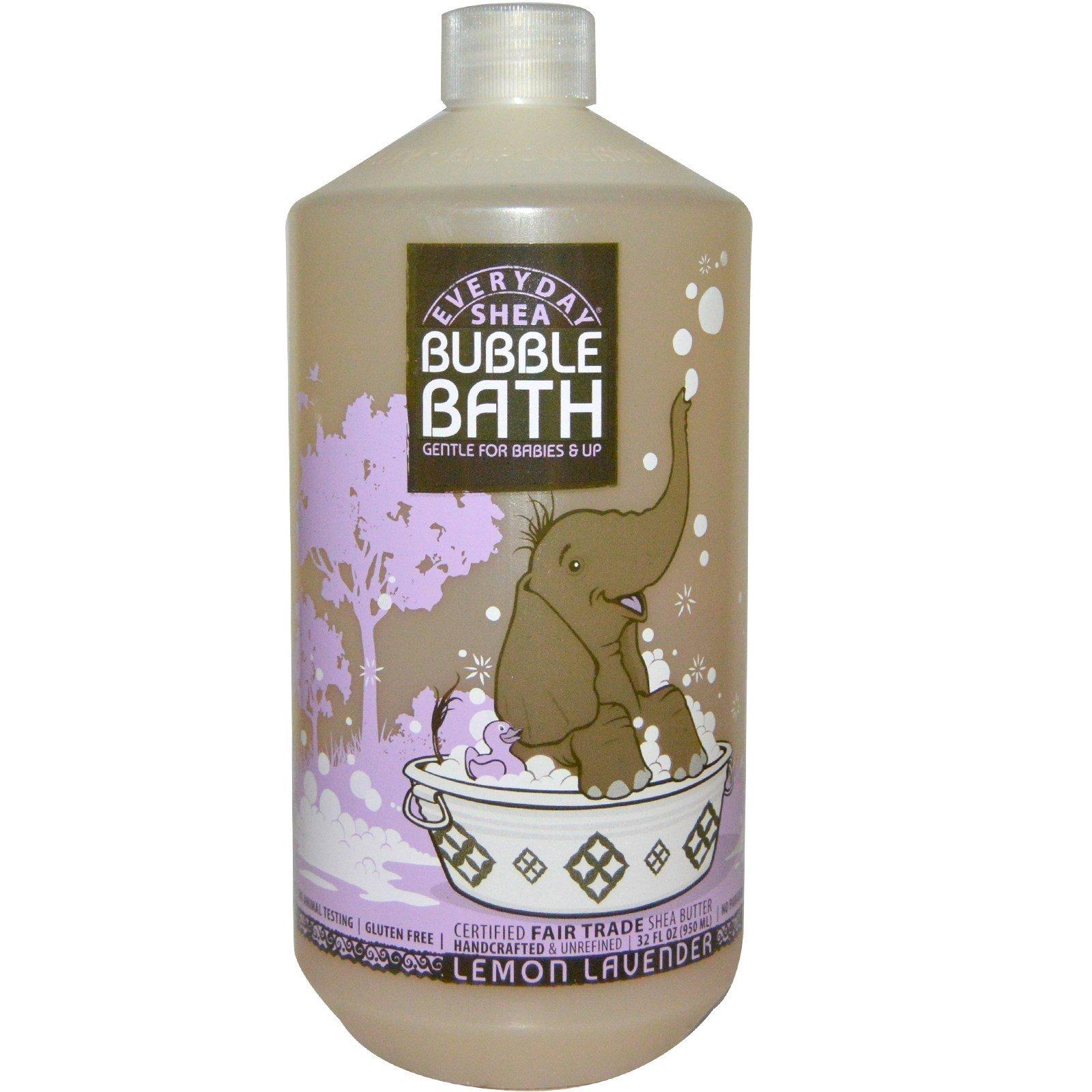 Everyday Shea, Bubble Bath, Gentle for Babies & Up, Lemon-Lavender, 32 fl oz (950 ml) - 2pc
