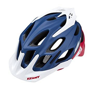 KENNY S2 Casco Mixta, Color Azul/Rojo, tamaño M
