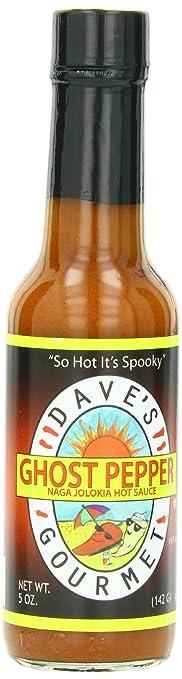 Daves Ghost Pepper Naga Jolokia Hot Sauce 5oz
