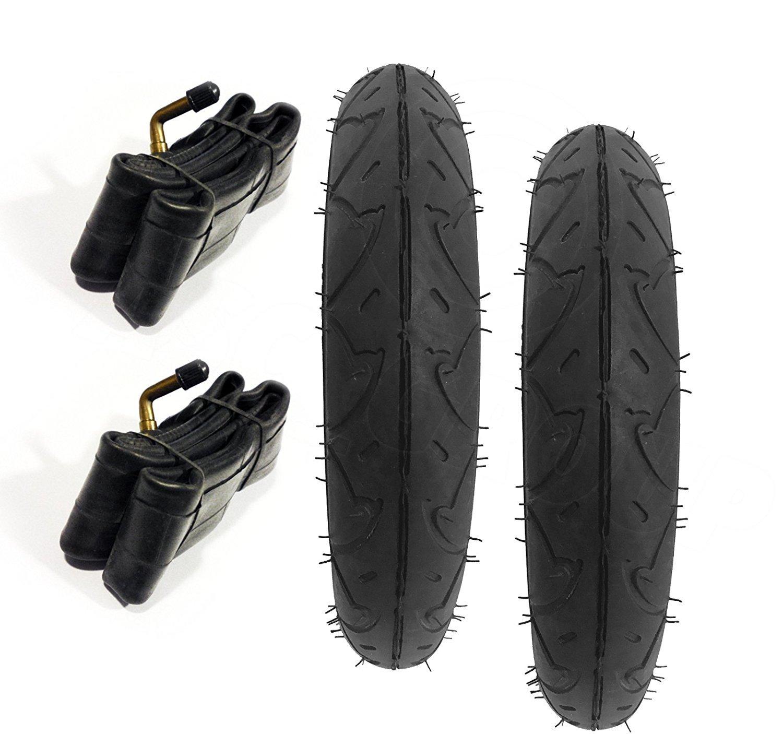 2 x Neumáticos De Cochecito & 2 x Tubos 10 x 2 Silla de paseo, Montaña silla de paseo Dueto holgado 25.4cm ASC
