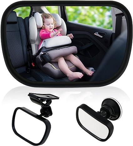 Miroir Auto B/éb/é 2 en 1 R/étroviseur de Surveillance Convient /à Toute Voiture Contever Miroir de Voiture pour B/éb/é