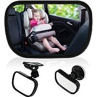 TedGem Baby Bambino Vista posteriore Specchio, specchietto retrovisore bambino,Specchio per Auto sedile posteriore specchio, Specchio auto regolabile per bambini Specchietto per sedili posteriori