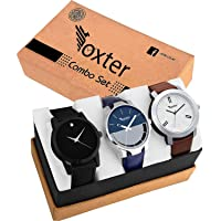 Foxter Pack of 3 Multicolour Analog Analog Watch for Men and Boys