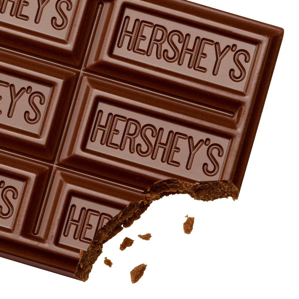 Amazon.com : HERSHEY'S Chocolate Bar, Milk Chocolate Candy Bar ...