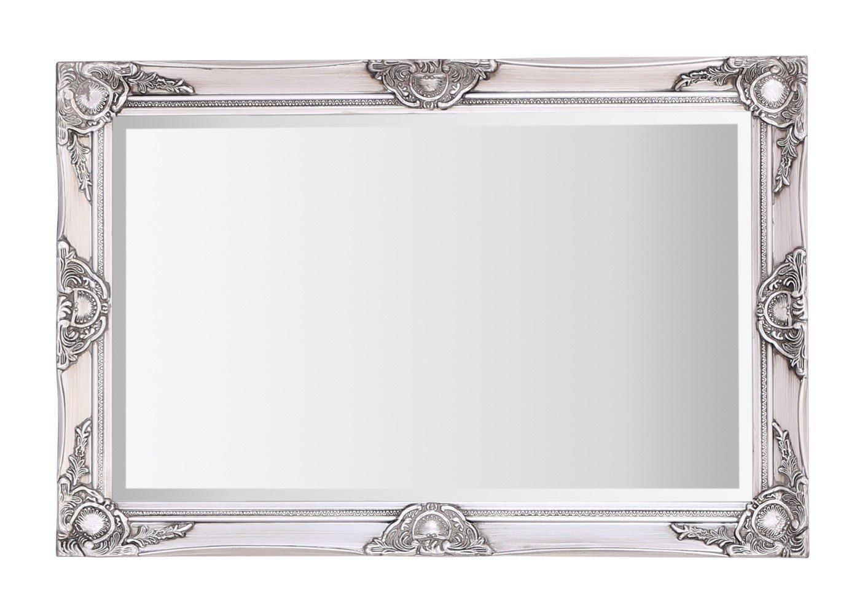 Selezionare specchi Grande Haywood Parete Overmantle Specchio–French Vintage, Stile rococò Barocco–60cm x 90cm (0,6x 0,9m), Antique Silver, 60cm x 90cm 6x 0 9m) Select Mirrors