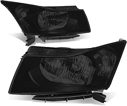 Driver /& Passenger Side DNA Motoring HL-OH-089-CH-CL1 Projector Headlight
