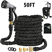 Avyvi Expandable Garden Hose Pipe,Flexible Expanding Magic Hose With Multi Spray Watering Gun/Storage Bag/Hose Hanger,Fashion Brass Fittings Water Hosepipe